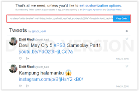 membuat widget twitter di website cara membuat widget embedded timeline di blogger tips trik blog