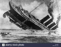 sinking of the lusitania the sinking of the ocean liner rms lusitania torpedoed by a german