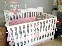 Pink Chevron Crib Bedding Elephant Nursery Decor Gray And Pink Chevron Crib Bedding On Grey