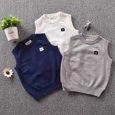 children knitwear vest 2016 children patterns soft sweater vest