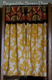 Damask Kitchen Curtains by Gallery Cafe Curtains U0026 Sill Length Panels Beyond The Screen Door