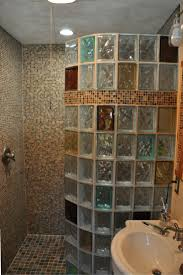 Amazing Bathroom Glass Bricks Home Interior Design Simple - Bathroom glass designs