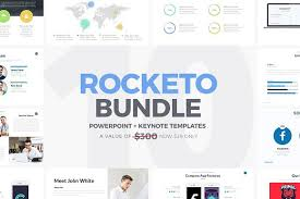 keynote themes compatible with powerpoint rocketo powerpoint keynote bundle presentation templates