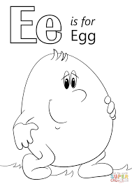letter e is for egg coloring page free printable coloring pages