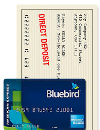 direct deposit card alternative to banking bluebird by american express walmart