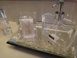 apartments excellent crystal bathroom accessory set design with