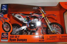 motocross toy bikes ryan dungey red bull ktm sxf 450 5 1 6 scale