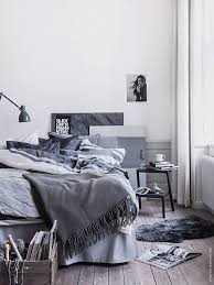 Shades Or Grey And Blue In A Scandinavian Bedroom  Pinterest - Scandinavian bedrooms
