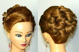 formal curly hairstyles for medium hair with side swept bangs