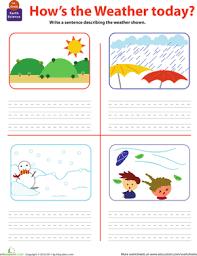 weather worksheets for 1st grade worksheets