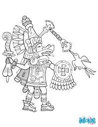 quetzalcoatl coloring pages hellokids com