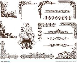 vector vintage ornamental frames and corners illustration 45122702