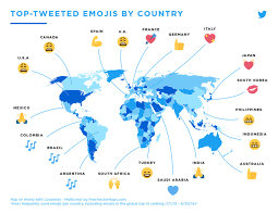 map use map reveals the most popular emojis are around the world but