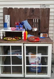 diy outdoor buffet my repurposed life