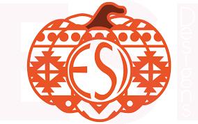 pumpkin svg free pumpkin svg dxf eps circle monogram cutting files aztec