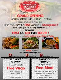 Invitation Card Grand Opening Opening Dinner At Muscle Maker Grill Exclusive Invite To Friends