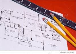 picture of ruler and pencils on house floorplan