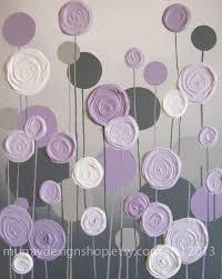 grey and purple modern nursery art impasto acrylic on