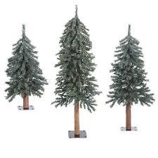 artificial trees unlit table top artificial