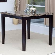 funiture square marble top kitchen tables with black wooden legs