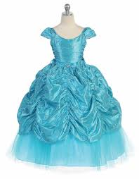 taffeta embroidered cinderella dress