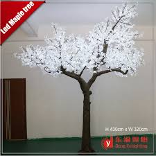 4 3 meter high artificial white light led light up maple tree