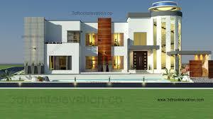 3d front elevation com 2 kanal house design