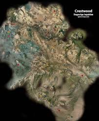 Dragon Age World Map by Crestwood Dragon Age Inquisition Game Maps Com
