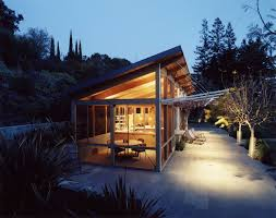 shed roof house palo alto pool house modern exterior san francisco by min