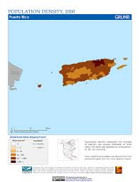 The Map Of Puerto Rico by Maps Population Density Grid V1 Sedac