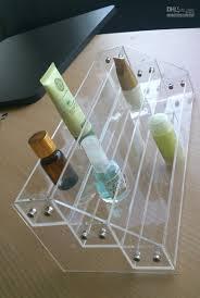 2017 clear acrylic three level nail polish display rack table