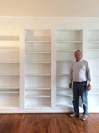 Ikea Billy Bookcase Hack Diy Built In Custom Bookshelves Using Ikea Billy Bookcases Hack