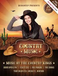 template flyer country free freepsdflyer download the best free country flyer psd templates