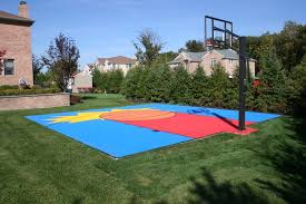 Backyard Basketball Court Building Backyard Basketball Courts Backyard Landscape Design