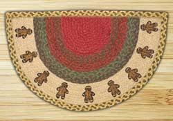 Gingerbread Rugs Half Circle Rugs With Artwork