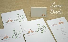 bird wedding invitations idea birds wedding invitations or lovebirds wedding