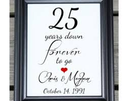 25 year anniversary gift personalized 4th wedding anniversary gift for him
