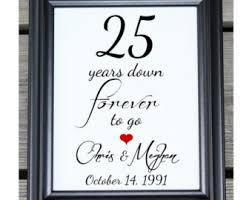25 year wedding anniversary 25 years etsy