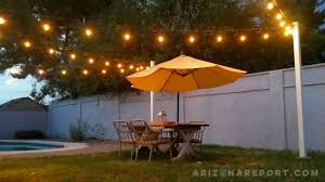 how to hang string lights and cafe lights the arizona report