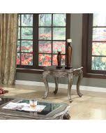 Granite Top Bedroom Set by Acme 20540q Chantelle 4pcs Antique Platinum Queen Sleigh Bedroom Set