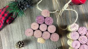 diy wine cork christmas tree ornament youtube