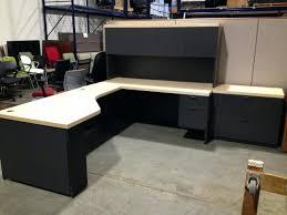 multi tiered computer desk sauder transit collection multi tiered l shaped desk salted oak