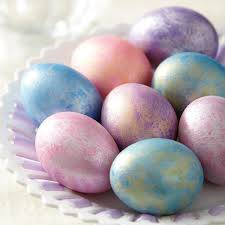 give your easter eggs a special shimmer use wilton color mist