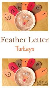 name activities feather letter turkey thanksgiving feathers