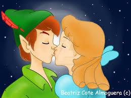 peter pan wendy kiss beatrizcote deviantart