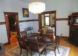 Bookshelf Chair Craftsman Dining Room With Built In Bookshelf Chair Rail In