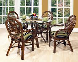 Outdoor Rattan Dining Chairs Rattan Amarillo Rattan Dining Set 5 Pieces 4 Arm Chairs Round