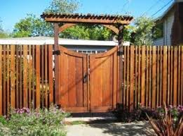 Best Fence And Gate Images On Pinterest Backyard Ideas - Backyard gate designs