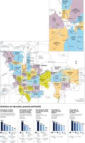 spokane washington map easy to see differences in well being among neighborhoods the