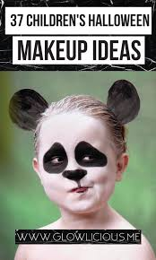 Panda Makeup For Halloween 37 Children U0027s Cute Halloween Makeup Ideas Glowlicious Me